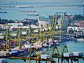 Singapore Port viewed from The Pinnacle@Duxton 10.jpg