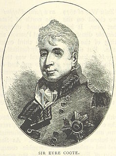 Eyre Coote (British Army officer) British general and politician