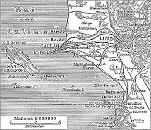 Callao - Historic map (1888).