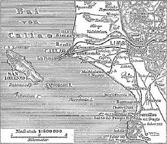 Callao - Historic map (1888).