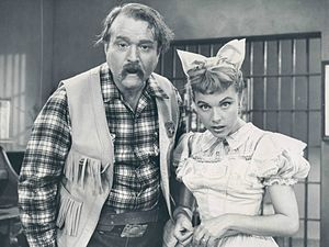 The Red Skelton Show - Skelton as Deadeye with actress Terry Moore, 1959.