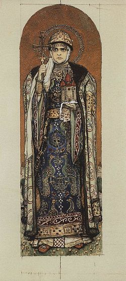 Sketch for Saint Olga by V.Vasnetsov (1885-93, GTG).jpg