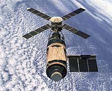 תחנת החלל סקיילאב עם נטישתה, בסיום משימת סקיילאב 4