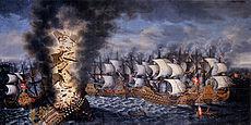 Slaget ved oland maleri av claus moinichen 1686