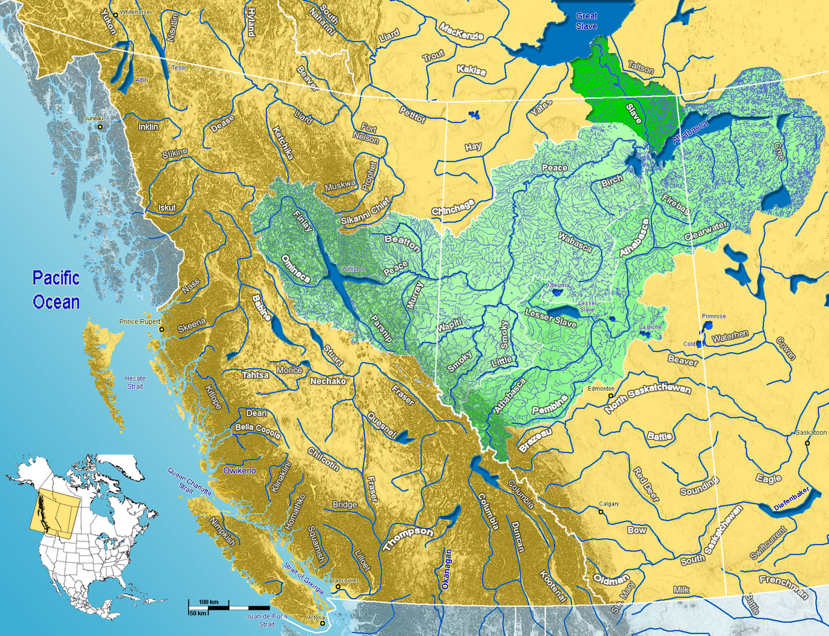 Slave River Wikipedia - Germany rivers map quiz