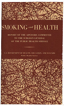 Cover page of the report on smoking and health