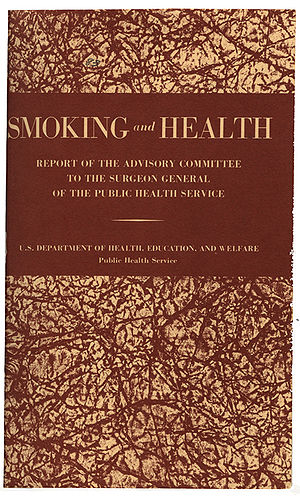Luther Terry - Cover page of the report on smoking and health