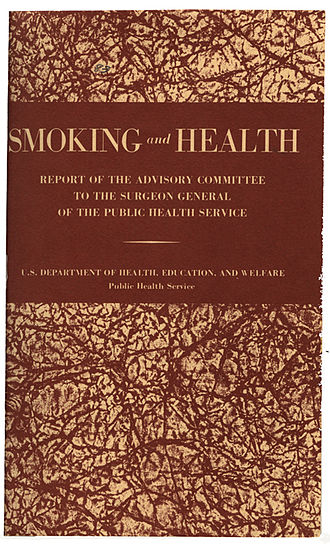 Smoking and Health: Report of the Advisory Committee to the Surgeon General of the United States - Cover page of the report
