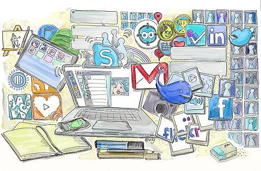 Social media illustration by Wilgengebroed.