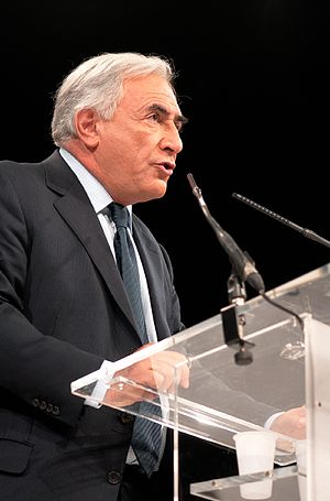 Dominique Strauss-Kahn - Speaking at a socialist rally in May 2007