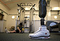 Soldier with Prosthetic Limb at the Personnel Recovery Centre in Edinburgh MOD 45152289.jpg