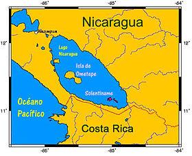 Mapa de Localización en Nicaragua