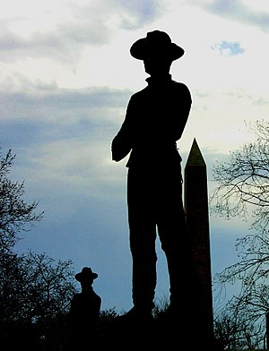 Detail from Sherman Memorial, Washington, D. C. Solider at Sherman Memorial.jpg