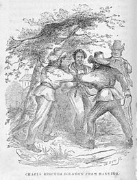 An illustration from Twelve Years A Slave, the memoir of Solomon Northrup,  1853:
