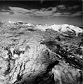 Soluka Creek, mountain glacier and valley glacier in the background, August 26, 1969 (GLACIERS 7054).jpg
