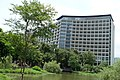 Songshan Cultural and Creative Park pond and Taipei New Horizon 20150627.jpg
