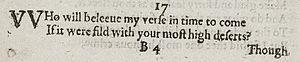 Sonnet 17 - Image: Sonnet 17 1609