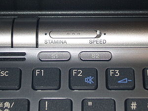 Vaio - Vaio Z series (2008) Keyboard and switch buttons