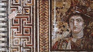 Thmuis - Sophilos Mosaic from Thmuis, about 200 BC, now in the Graeco-Roman Museum, Alexandria