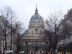College of Sorbonne - The chapel of the Sorbonne today, from the same point of view