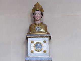 buste-reliquaire de saint Amand à Soultz-les-Bains