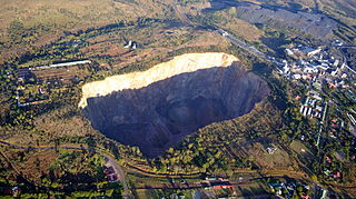 diamond mine in South Africa