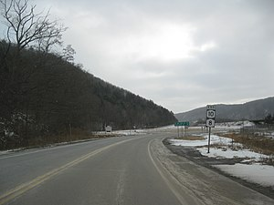 New York State Route 10 - South end of NY 8 and NY 10 at NY 17 in Deposit