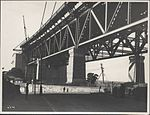 Southern approach platform of the Sydney Harbour Bridge, 1928 (8282704123).jpg