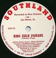 Label of Southland Record featuring Johnny Wiggs