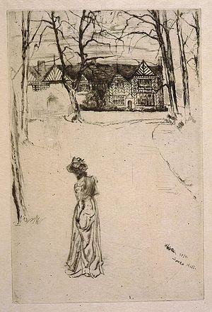 Speke Hall - Speke Hall by James Abbott McNeill Whistler (1870).