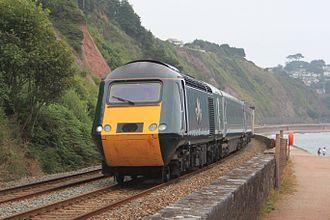 Great Western Railway (train operating company) - A Great Western Railway Class 43 powercar passing Sprey Point