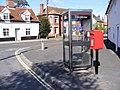 Spring Lane Postbox and Lower Street, Wickham Market - geograph.org.uk - 1501410.jpg