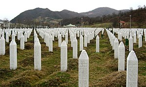 Genocide - The cemetery at the Srebrenica-Potočari Memorial and Cemetery to Genocide Victims