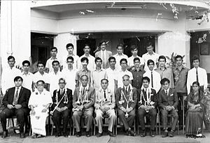 Srikantadatta Narasimharaja Wadiyar - Image: Srikanta Dutta Narasimharaja Wodeyar with Prof S. Naganath