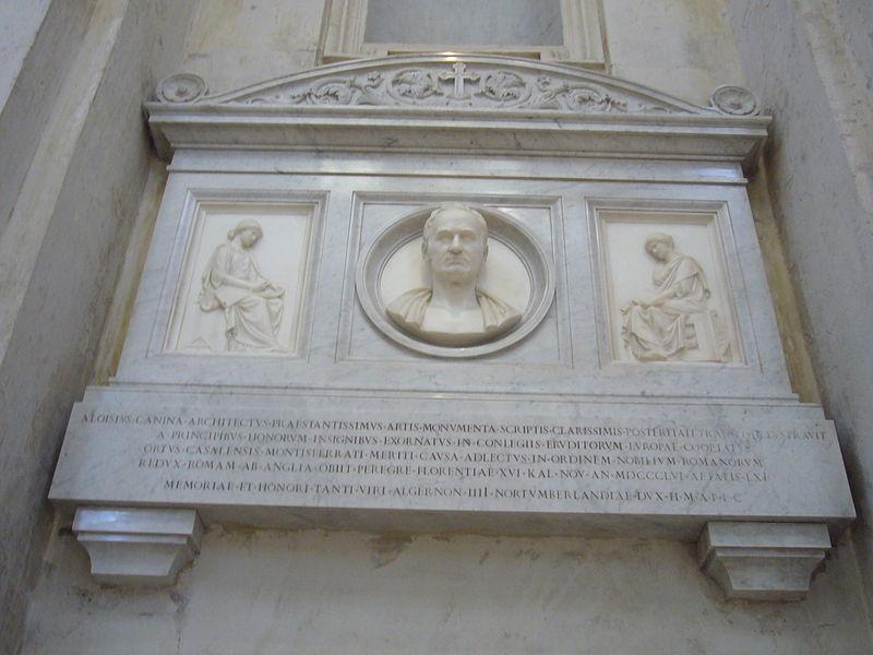 Fil: Ss Luca e Martina - cenotafio Luigi Canina 1250614.JPG