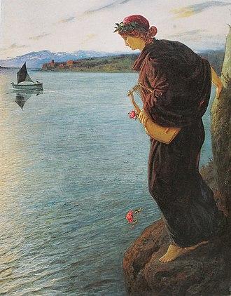 Ernst Stückelberg (painter) - Sappho (1897)