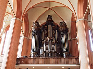 St. Michaelis, Lüneburg - Historic prospect of the Dropa organ