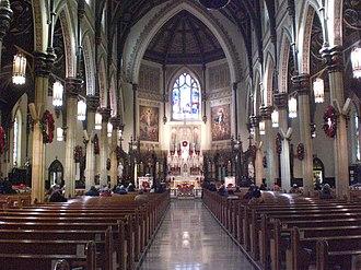 St Patrick's Basilica, Ottawa - Image: St. Patrick's Basilica interior, Ottawa