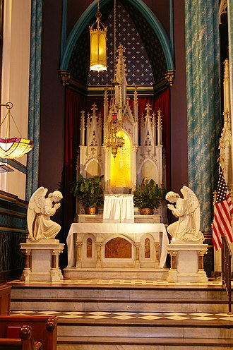 St. Francis Xavier Church (Cincinnati, Ohio) - Image: St Francis Xavier Blessed Sacrament