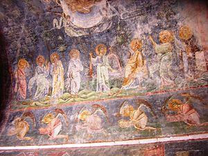 Church of St. Sophia, Ohrid - Ceiling frescoes in the Church of St. Sophia.