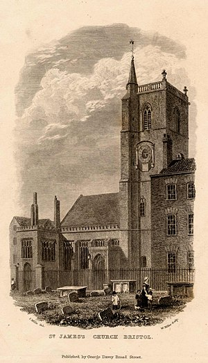 St James' Priory, Bristol - Image: St James' Priory Church, Bristol, BRO Picbox 4 B Ch 21, 1250x 1250
