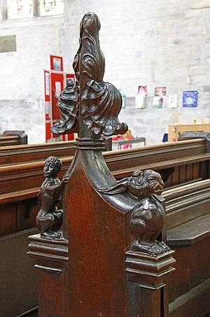 King's Lynn Minster - Image: St Margaret, King's Lynn, Norfolk Bench end geograph.org.uk 1501293