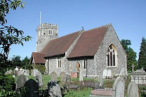 Grade II* listed buildings in Hertsmere - Image: St Margaret, Ridge, Herts geograph.org.uk 348807
