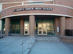 Calgary Catholic School District - St. Mary's High School (photo taken in 2005)