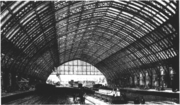 The interior of the Barlow Trainshed, circa 1870