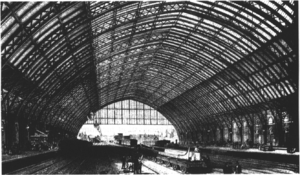 1868 in rail transport - Barlow's train shed at London St Pancras newly completed