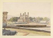 St Peter's Church, Fort William, Calcutta by William Prinsep 1835