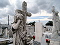 St Roch Cemetery crying statue.jpg