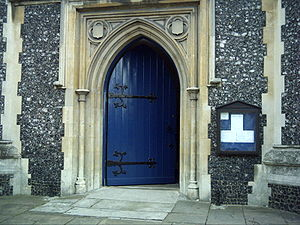 St Mary's Church, Wimbledon - West Door of St Mary's Church