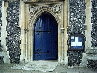 St Mary's Church, Wimbledon - West Door of St Mary's Church